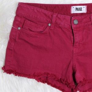 PAIGE Hot Pink Denim Cutoffs